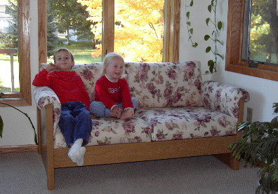 sunroom loveseat or small sofa