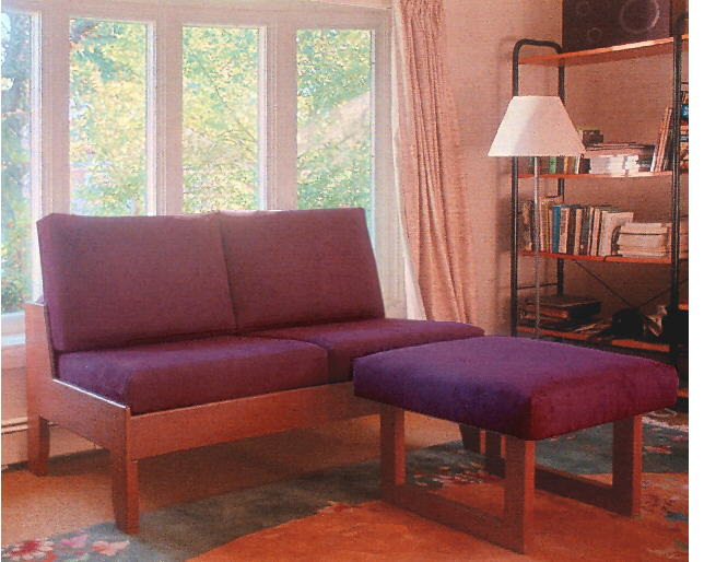 armless loveseat/small sofa