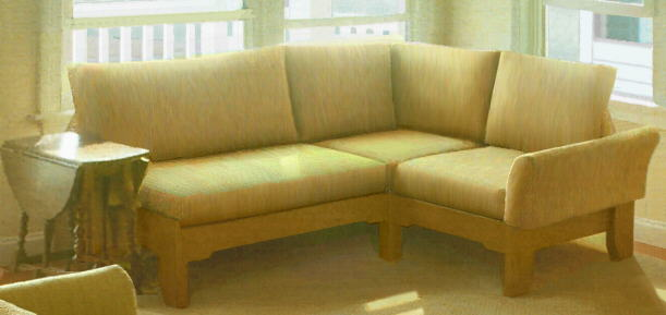 Armless Sectional Oak Furniture