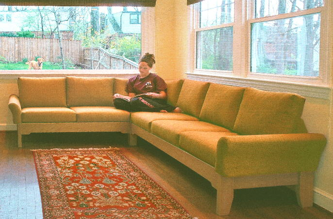 enjoyable custom sofa design. One member of this household temporarily has to be satisfied check out  the newly arrived sectional from outdoors while another puts it enjoyable use Contemporary custom size sofas small or large