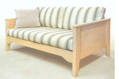 Florida loveseat, wood frame