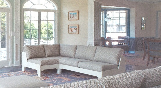 Non-bulky, comfortable sofas for sunroom or sunny room