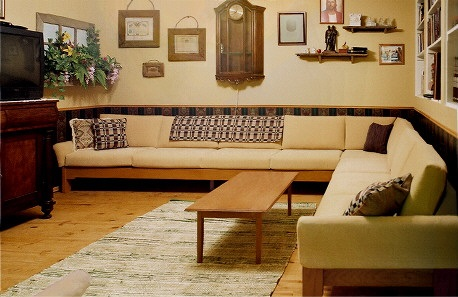 long, large sectional sofa