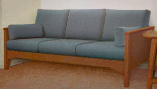 Non Bulky Wood Frame Sofa